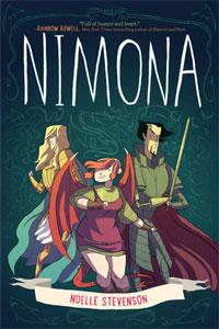 The cover of Nimona by Noelle Stevenson