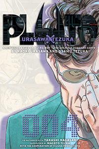Cover of Pluto Volume Four by Naoki Urasawa