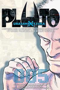 Cover of Pluto Volume Five by Naoki Urasawa